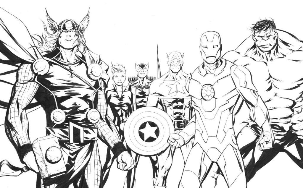 Coloriage super-héros cool - Avengers