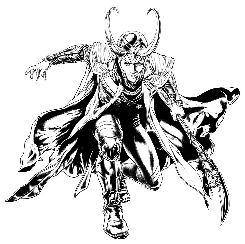 Coloriage Loki Avengers