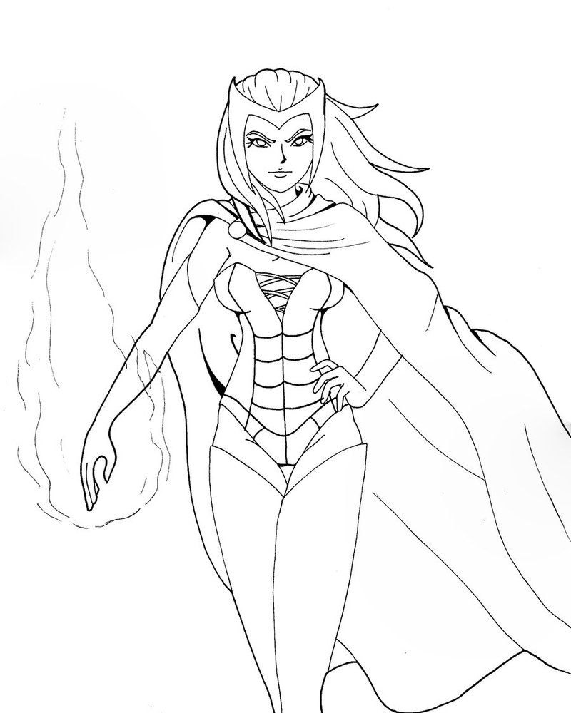 Coloriage Scarlet Witch Avengers