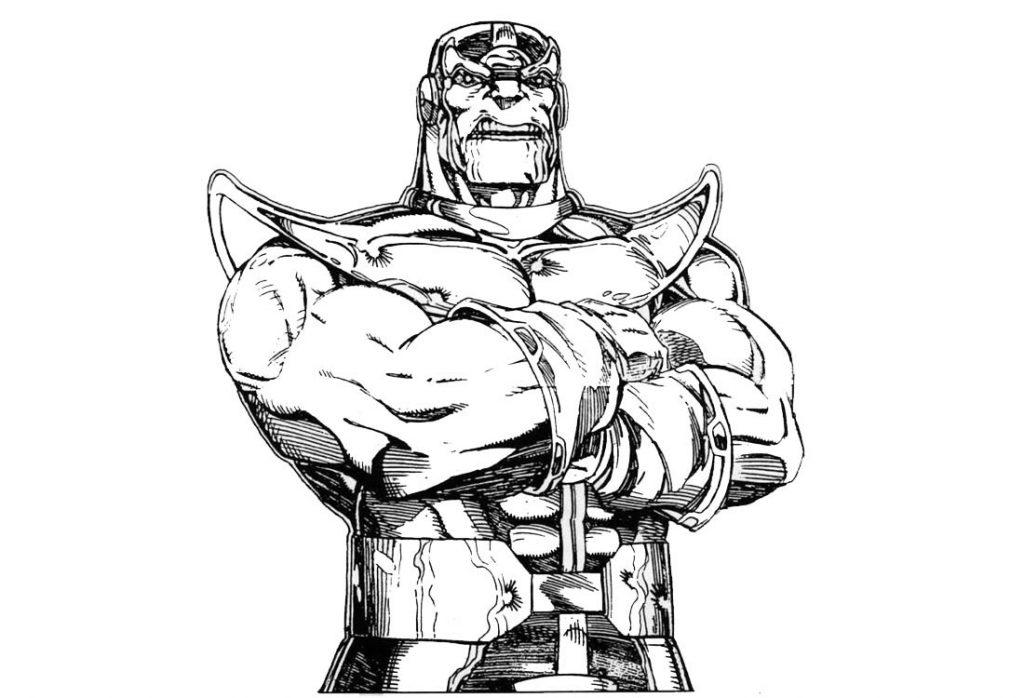 Thanos Avengers à colorier