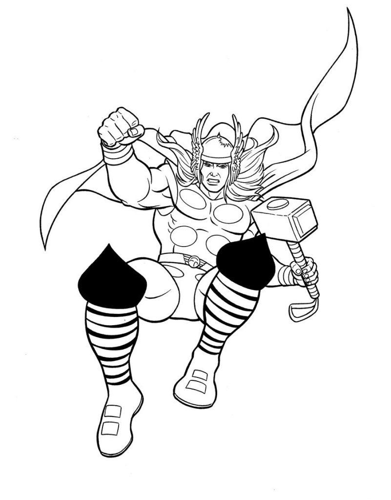 Thor Avengers à colorier