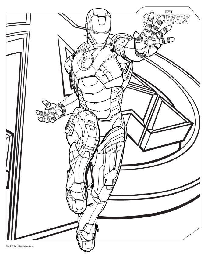 Coloriage Avengers - Iron Man