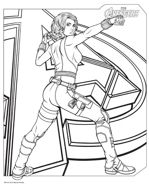 Coloriage Avengers - Black Widow