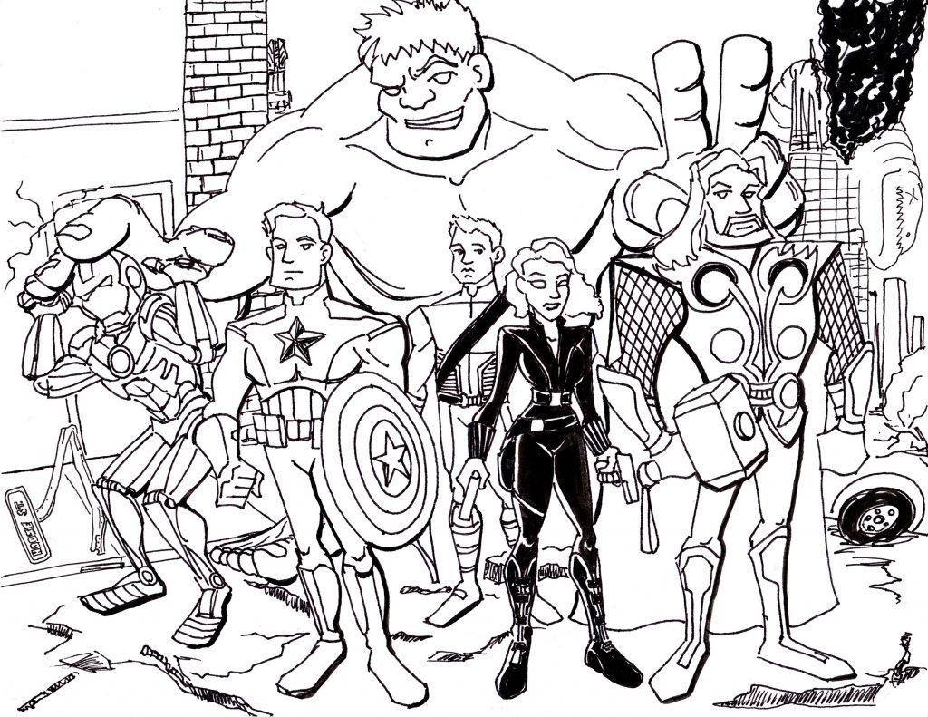 Coloriage Avengers imprimer