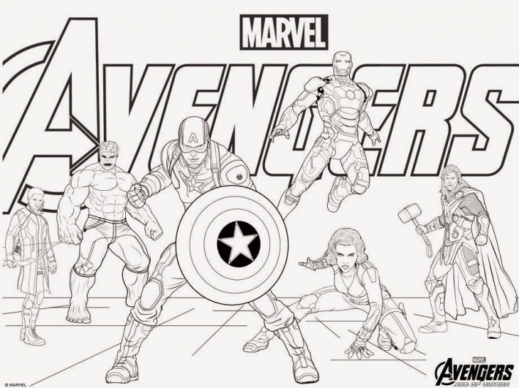 Coloriage Marvel Avengers