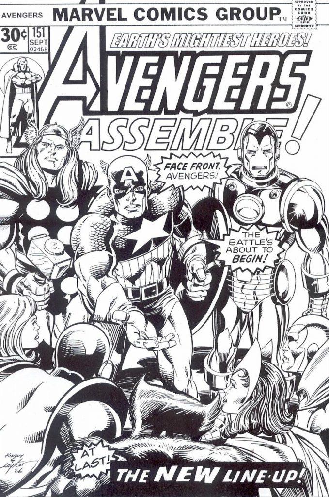 Coloriage Avengers Comic gratuit