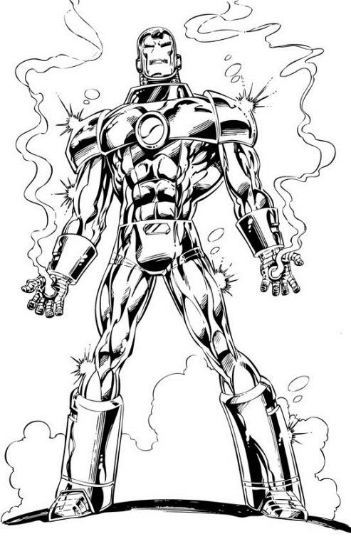 Coloriage Avengers gratuit à imprimer
