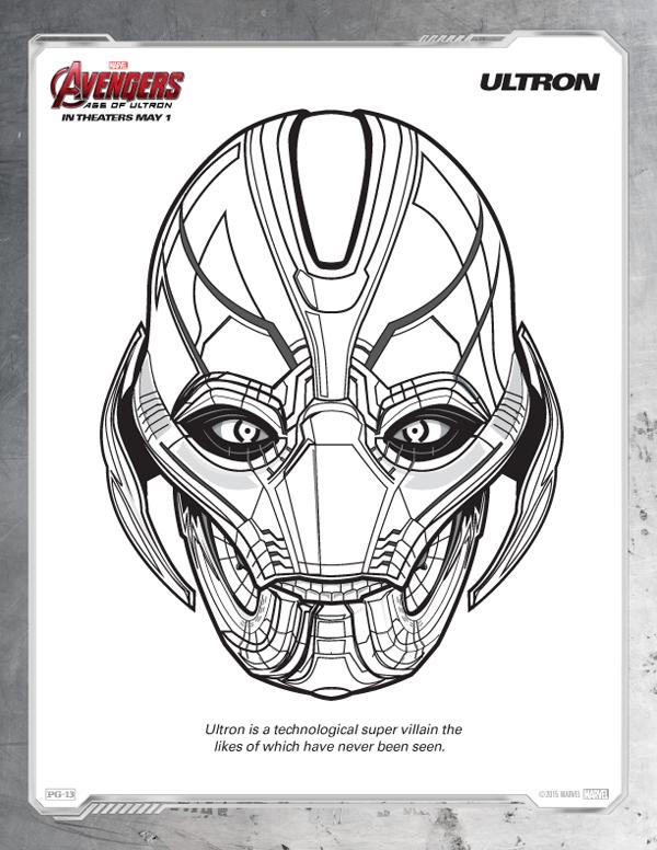 Coloriage Avengers - Ultron gratuit