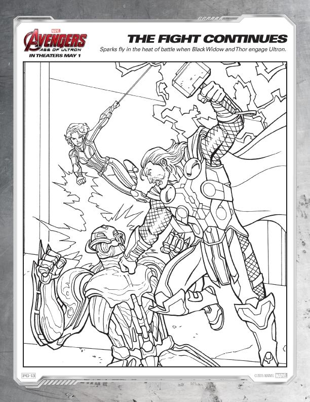 Coloriage Avengers gratuit