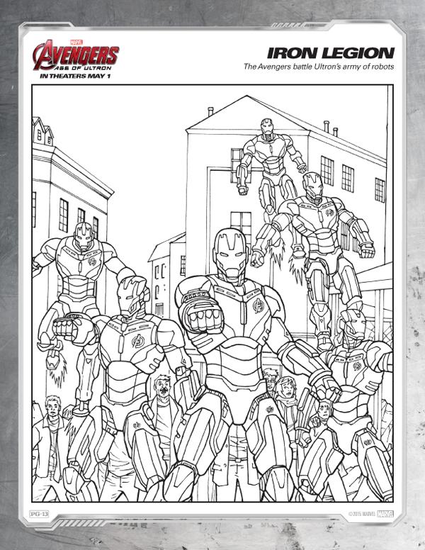Coloriage Avengers - Iron Legion gratuit