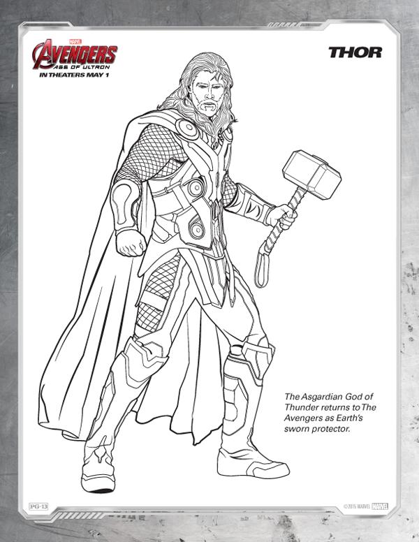Coloriage Avengers - Thor gratuit