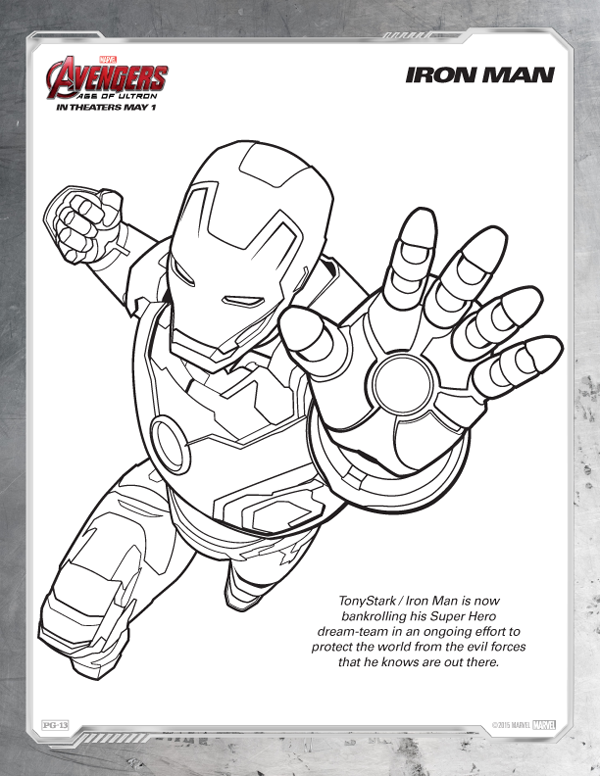 Avengers Coloring Pages - Free Iron Man