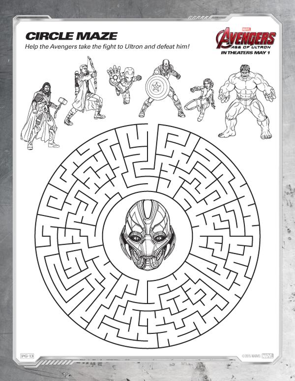 Coloriage Avengers à imprimer