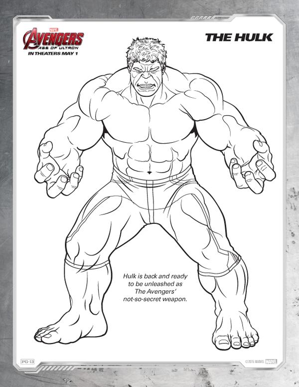 Coloriage Avengers - Hulk gratuit