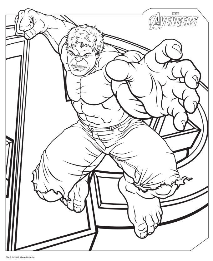 Coloriage Avengers - Hulk