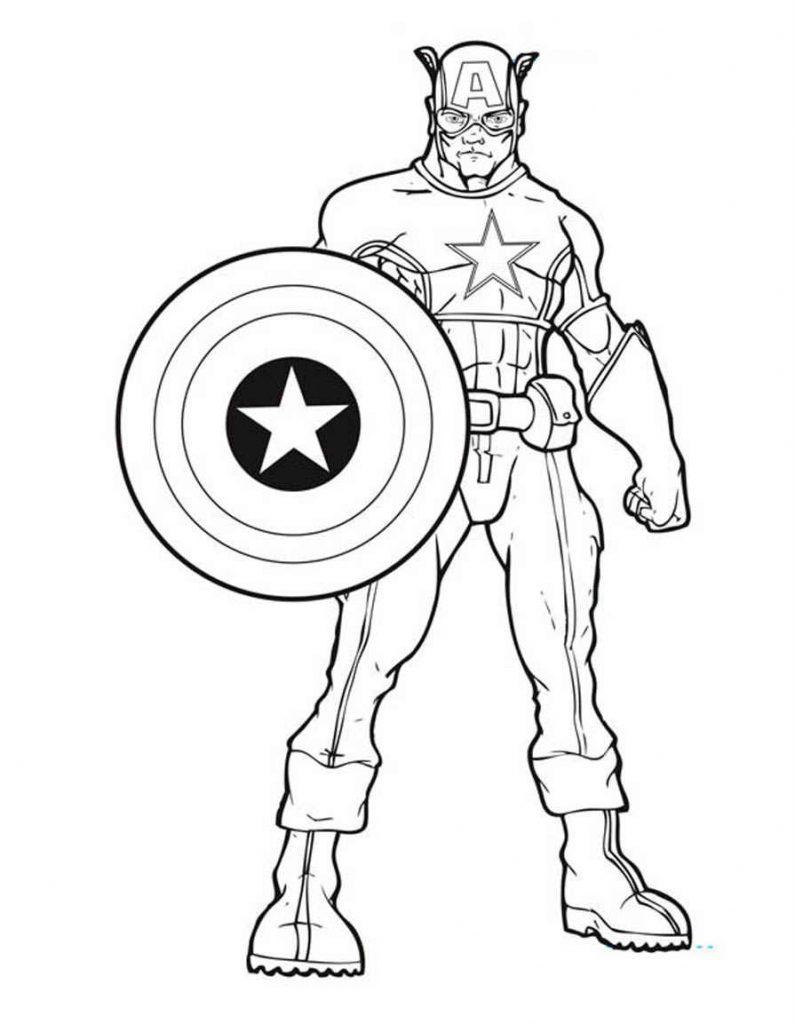 Coloriage Avengers - Captain America gratuit