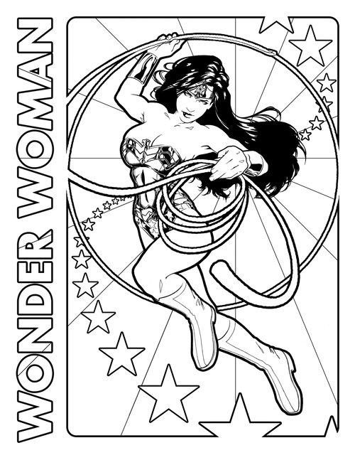 Coloriage Wonder Woman