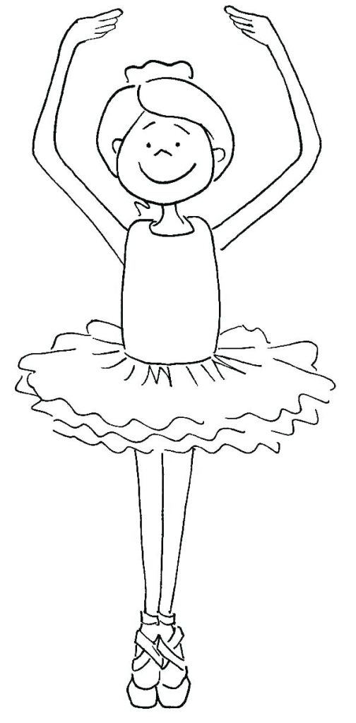 Coloriage de danseuse de ballet