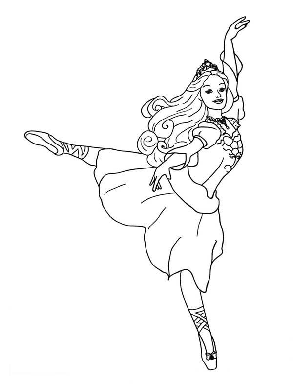Coloriages de danse de ballet - orteil
