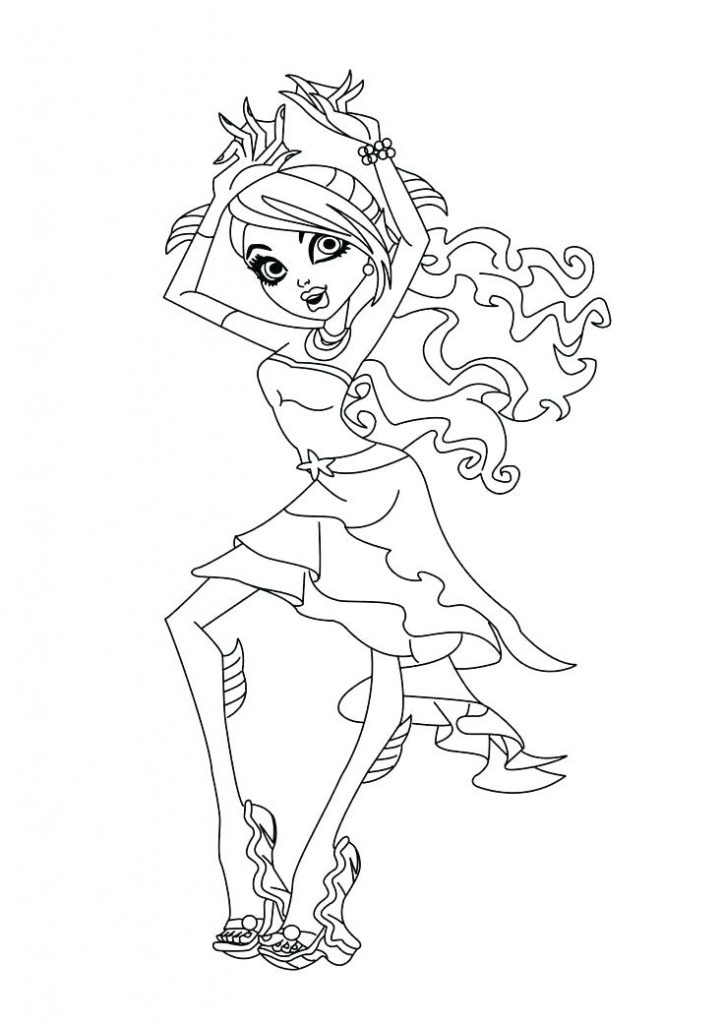 Coloriage Monster High Dance