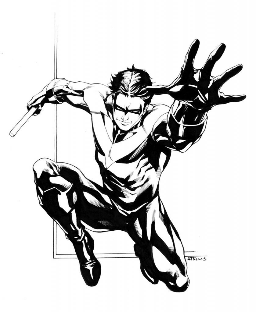 Coloriages Nightwing gratuits