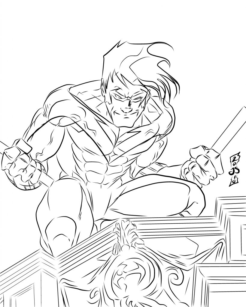 Coloriage Nightwing