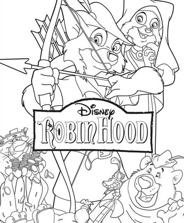 Coloriage Robin des Bois gratuit à imprimer et colorier