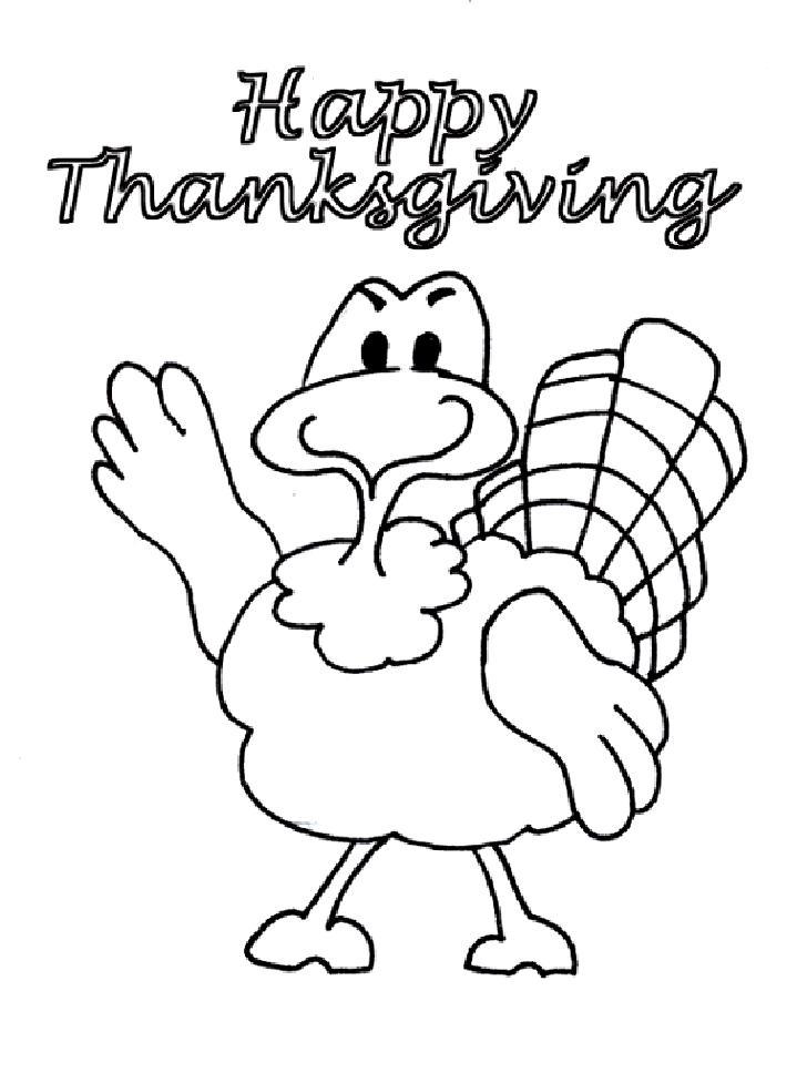 Coloriage Joyeux Thanksgiving