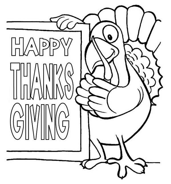 Joyeux Thanksgiving Coloriage imprimable