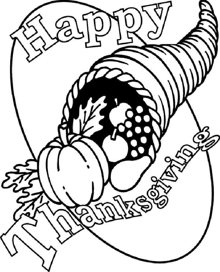 Joyeux Thanksgiving à colorier