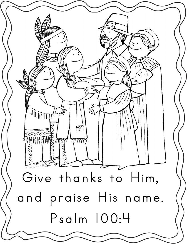 Coloriage Psaume Premier Thanksgiving