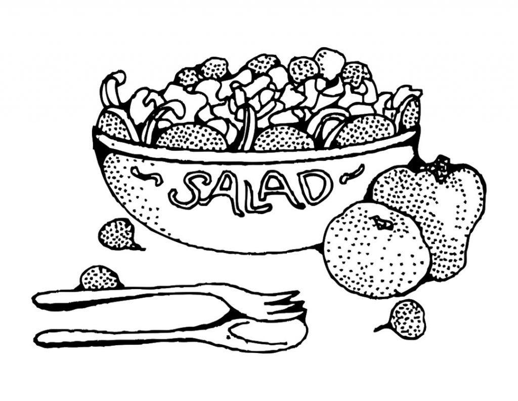 Coloriage salade