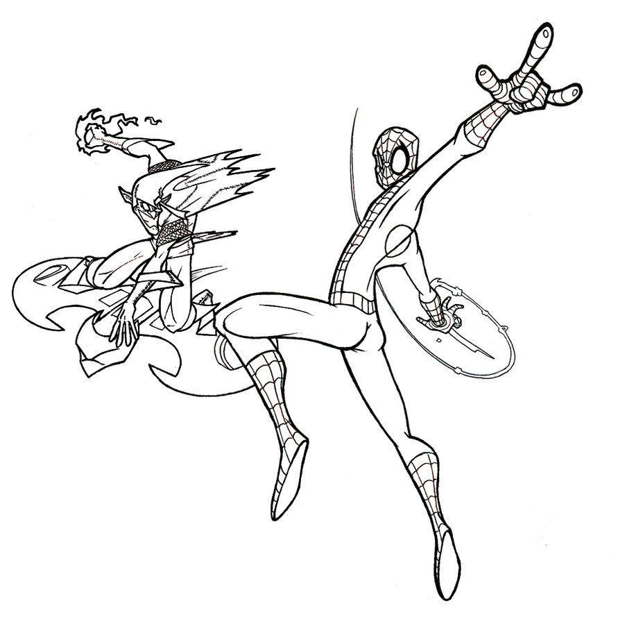 Spiderman et gobelin vert 2