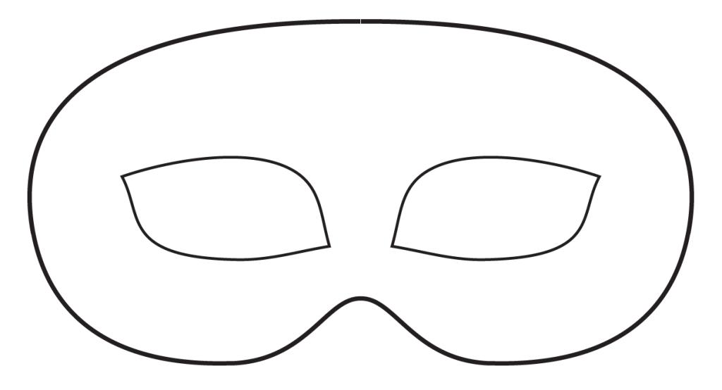 Coloriez votre propre masque d'Halloween imprimable