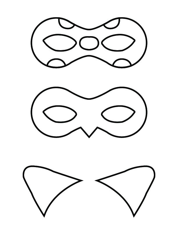 Masque et oreilles imprimables
