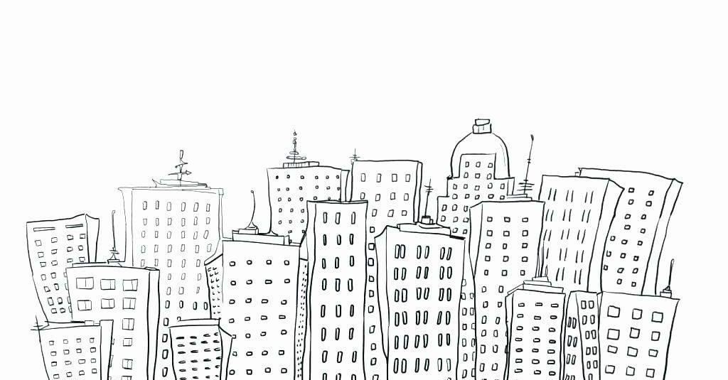 Dessin de ville cool à colorier