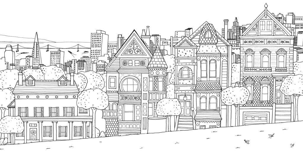 Coloriage de la ville