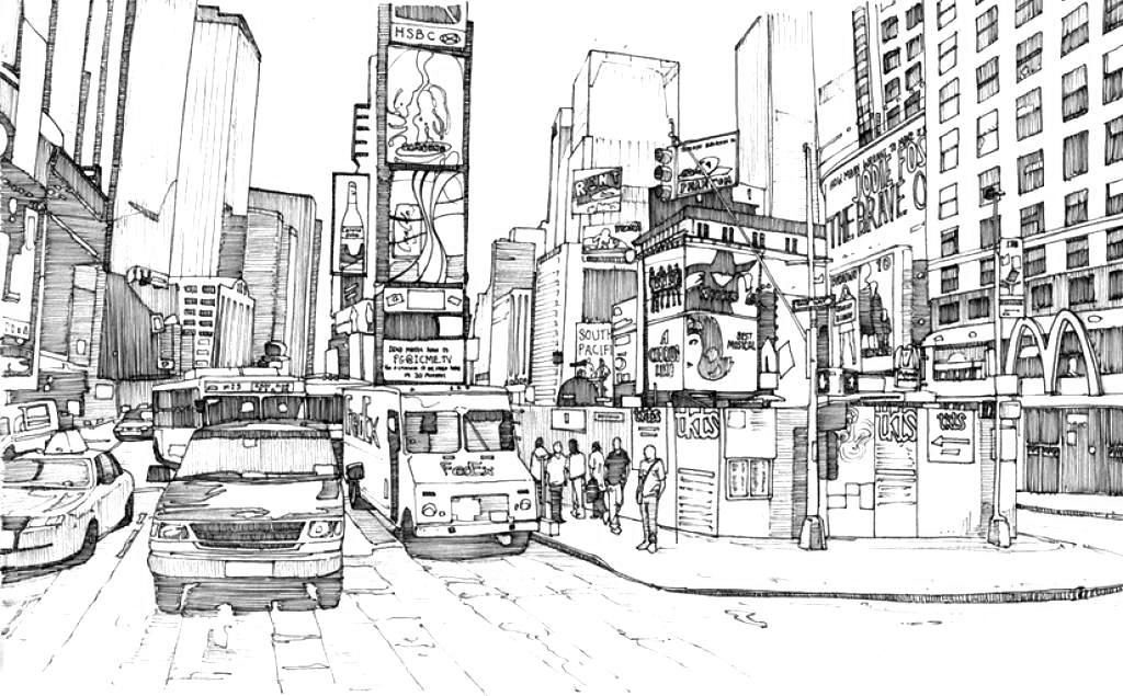 Coloriage de New York City