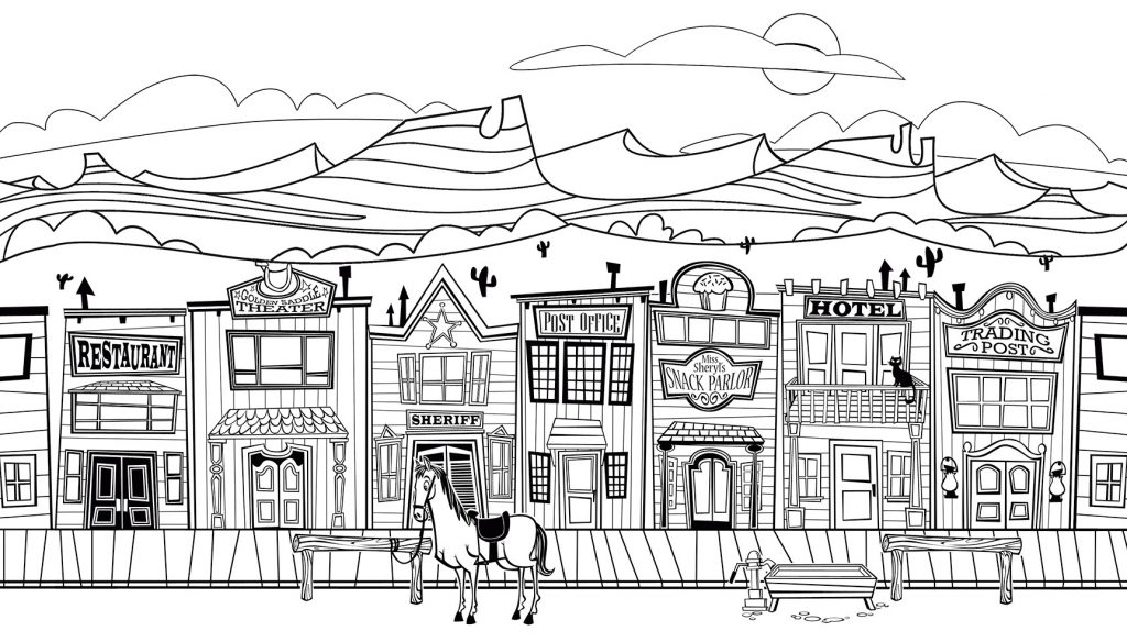 Coloriages Old West City