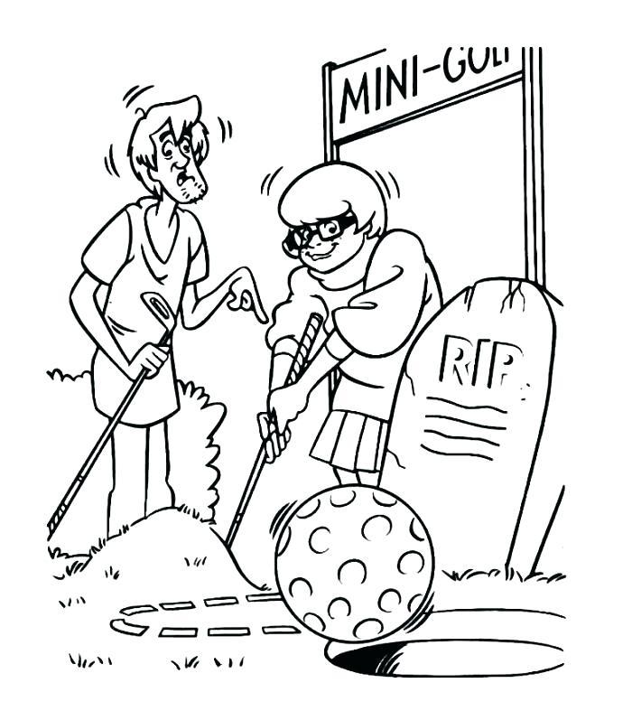 Coloriage Velma Golf