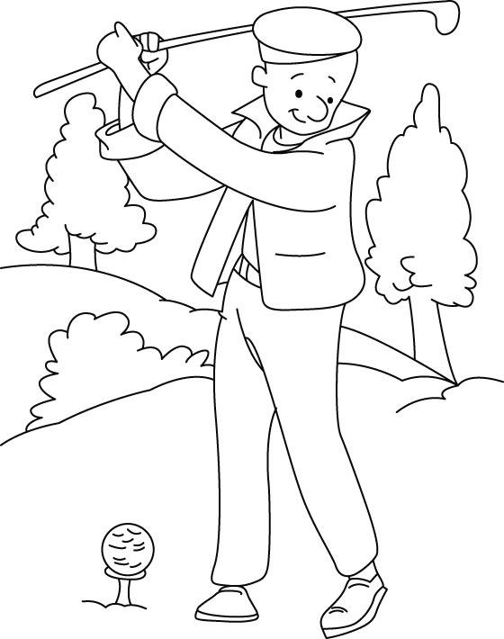 Coloriage de golf