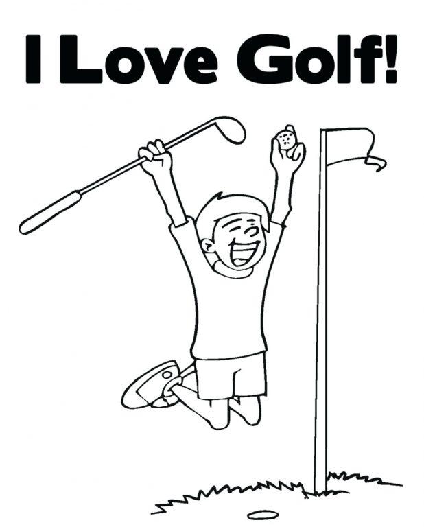 Coloriage I Love Golf