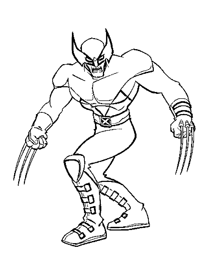 X Men Coloring Pages To Print