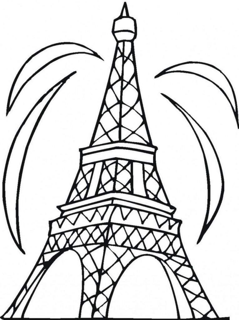 Coloriage Tour Eiffel à Imprimer Gratuit