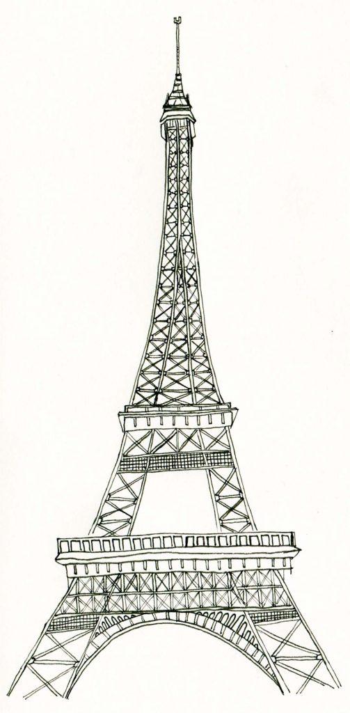 Coloriages gratuits de la tour Eiffel