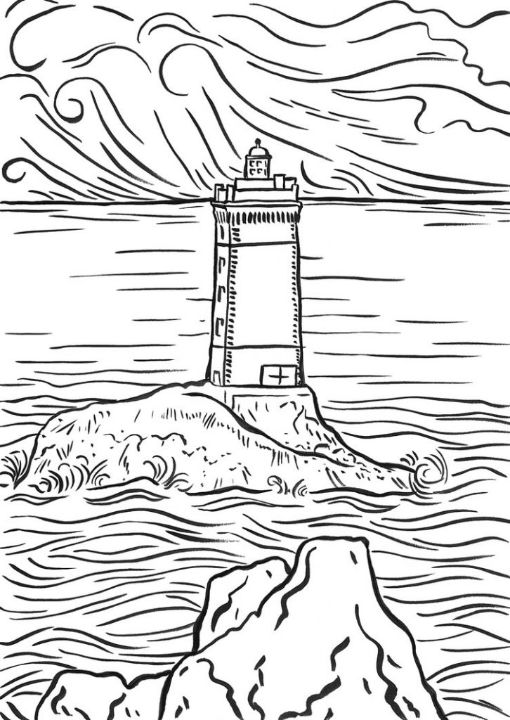 Images de coloriage de phare