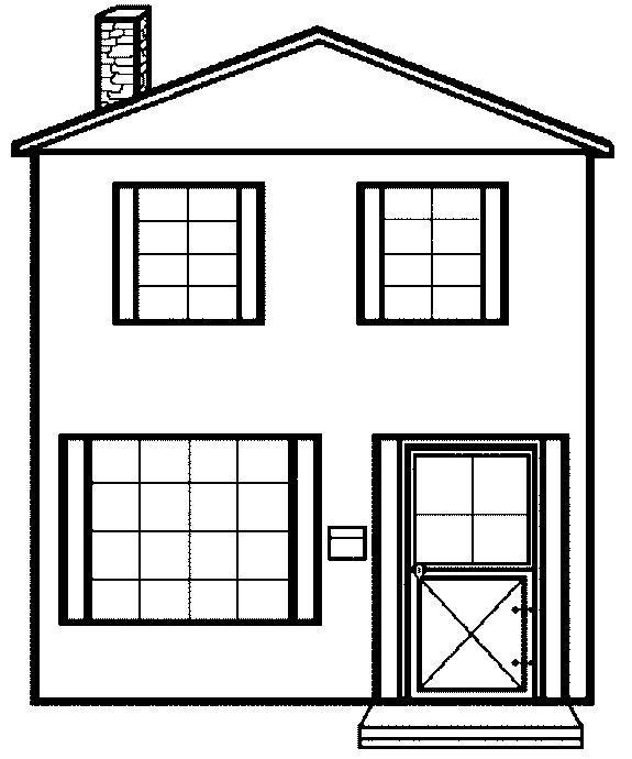 Coloriage de maison gratuit à imprimer