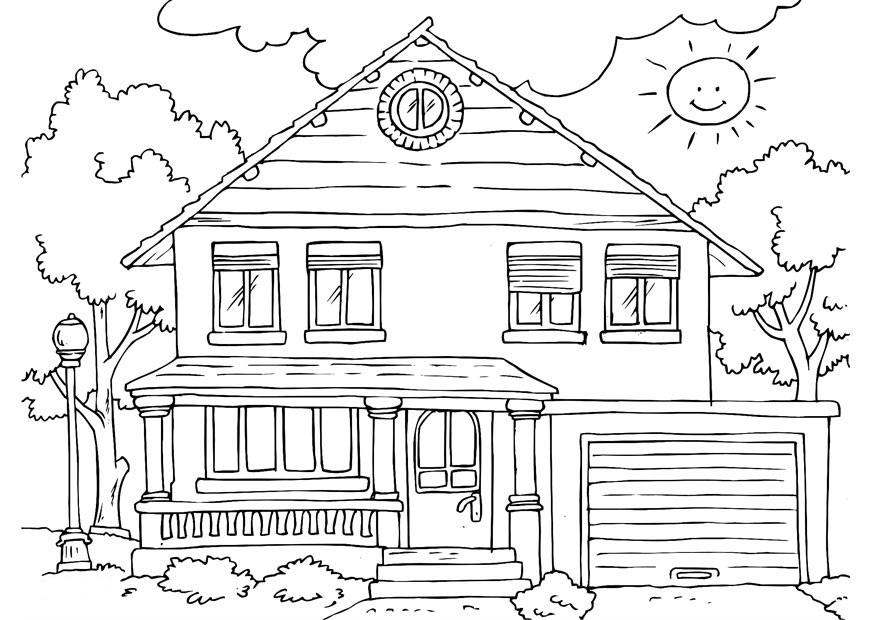 Coloriage de maison gratuit