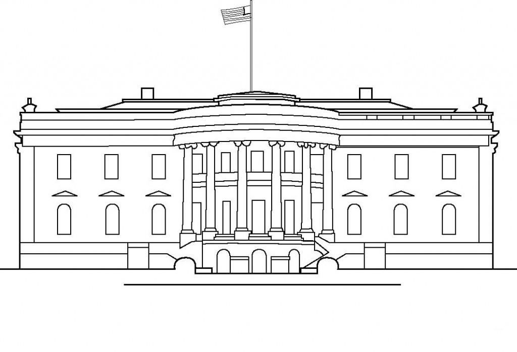 Coloriage Maison Blanche Pour Enfants