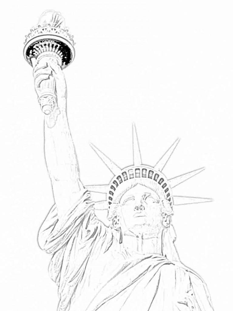 Images de Coloriage Statue de la Liberté